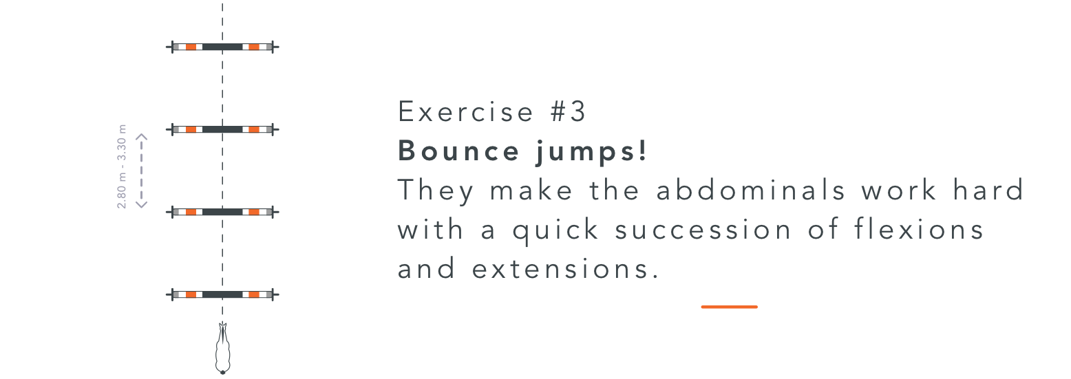 back muscles abs bounce jumps