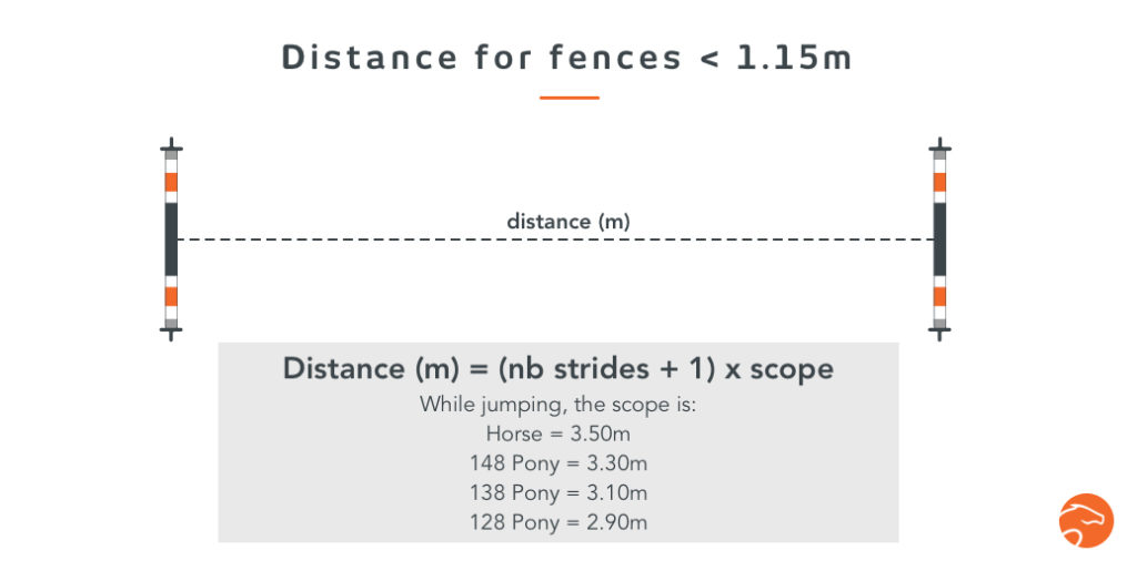 horse strides distance