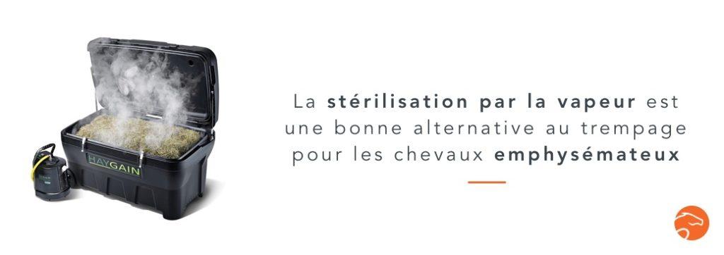 stérilisation du foin alternative au trempage