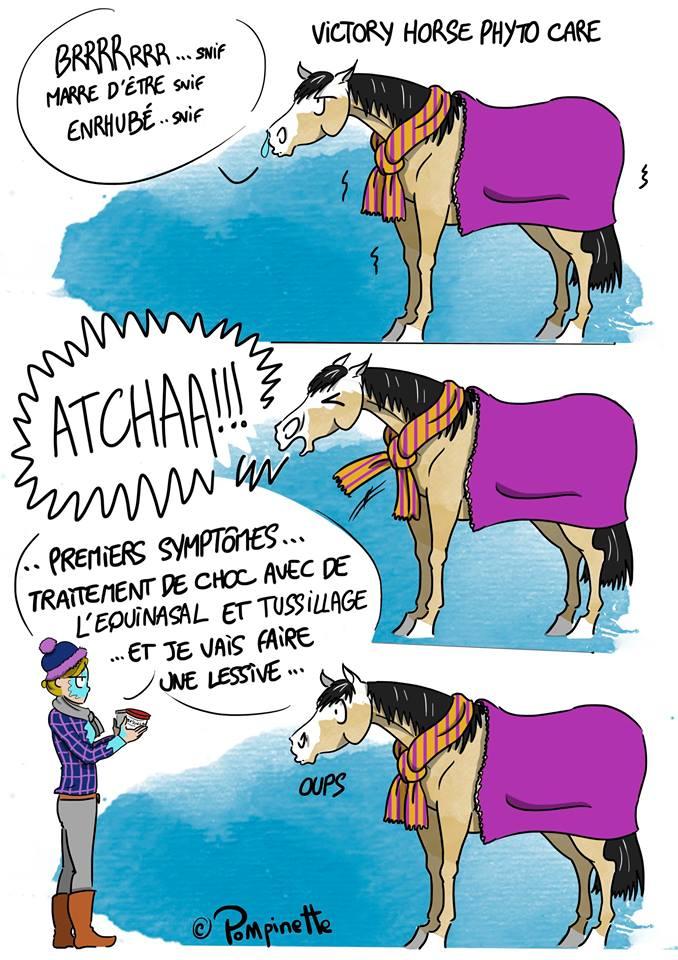 dessin humoristique cheval malade