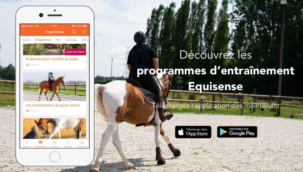 programmes d'entrainement cheval Application mobile equisense