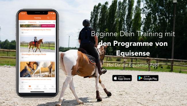 Trainingsübungen Equisense in der Equisense App