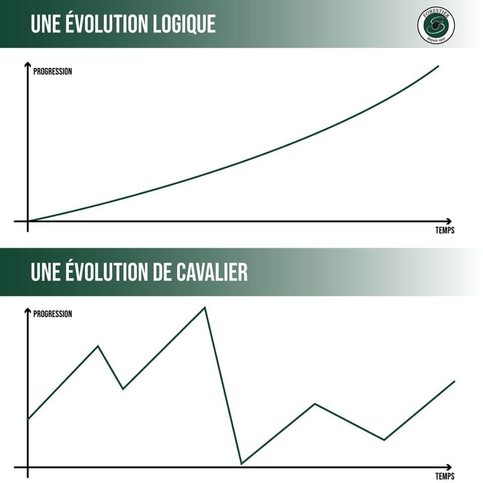 Evolution logique vs évolution du cavalier, d'où l'intérêt de la préparation mentale !