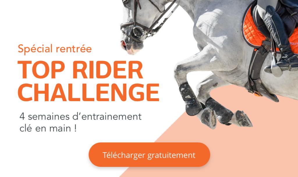 Top Rider Challenge Equisense programme d'entrainement complet sur 4 semaines pour la rentrée