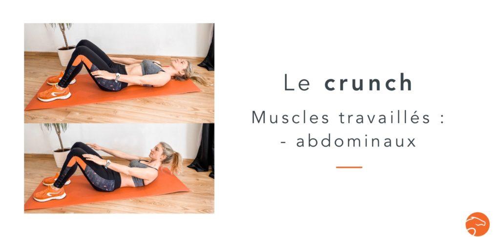 exercices de musculation spécial cavalier le crunch