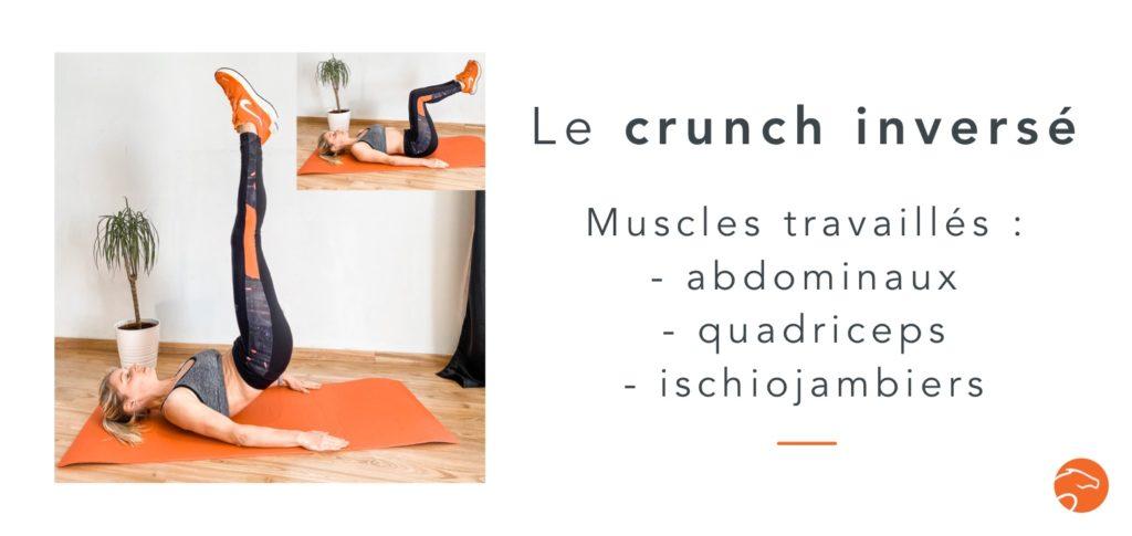 exercices de musculation spécial cavalier le crunch inversé