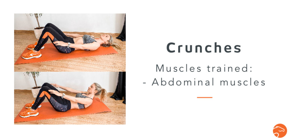 crunches, a good strength training exercise for riders