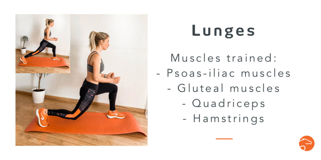 the lunges, a good strength training exercise for riders