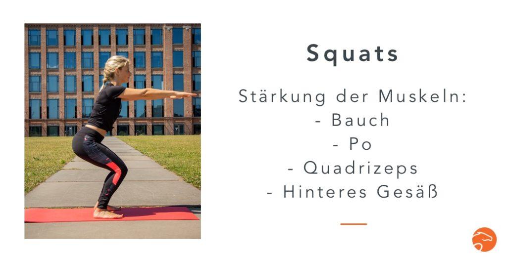 Muskelaufbau Reiter Squats