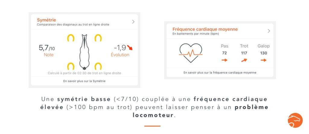 détecter des problèmes locomoteurs (boiterie) du cheval avec un cardiofréquencemètre tel que le Equisense Motion S