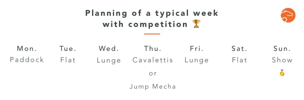planning of a week with competition