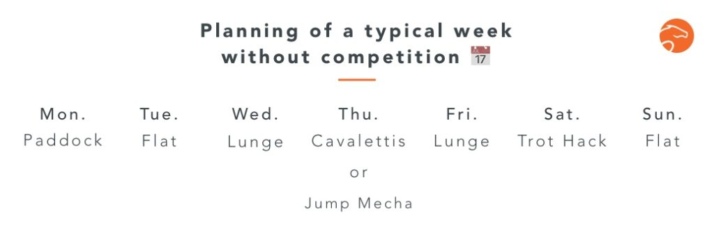 planning of a week without competition
