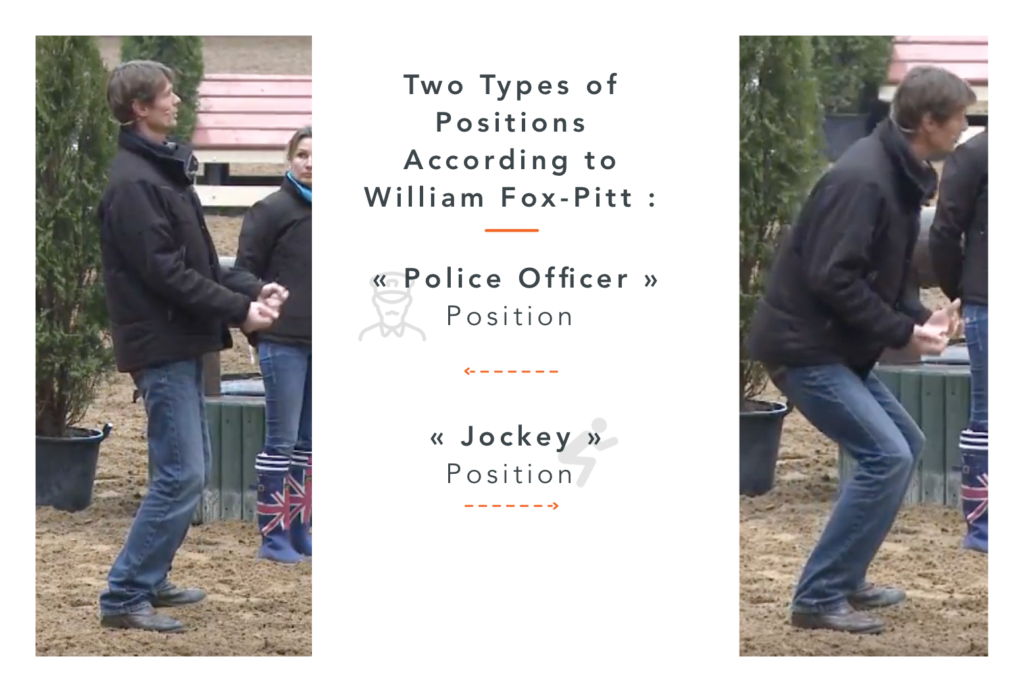 The correct jumping position according to the top rider William Fox pitt