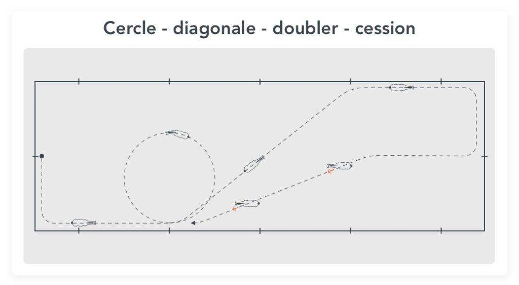 exercice de dressage pour gagner en contrôle cercle diagonale cession à la jambe