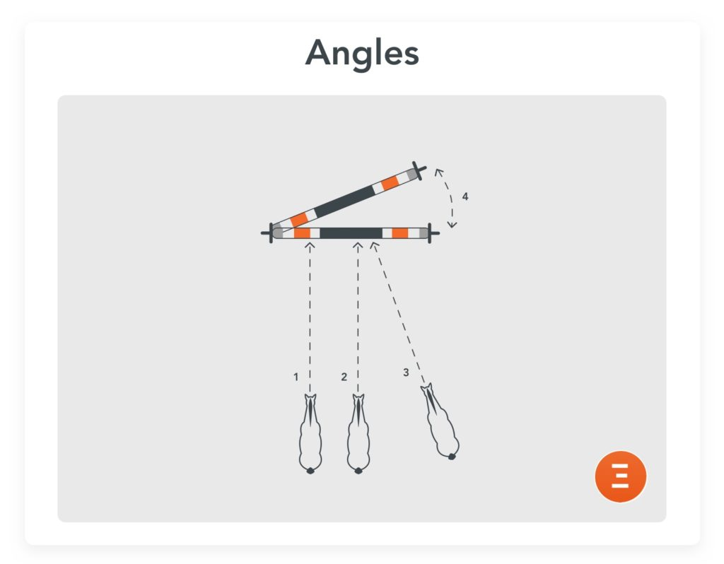 Angles, an exercise to prepare for competition