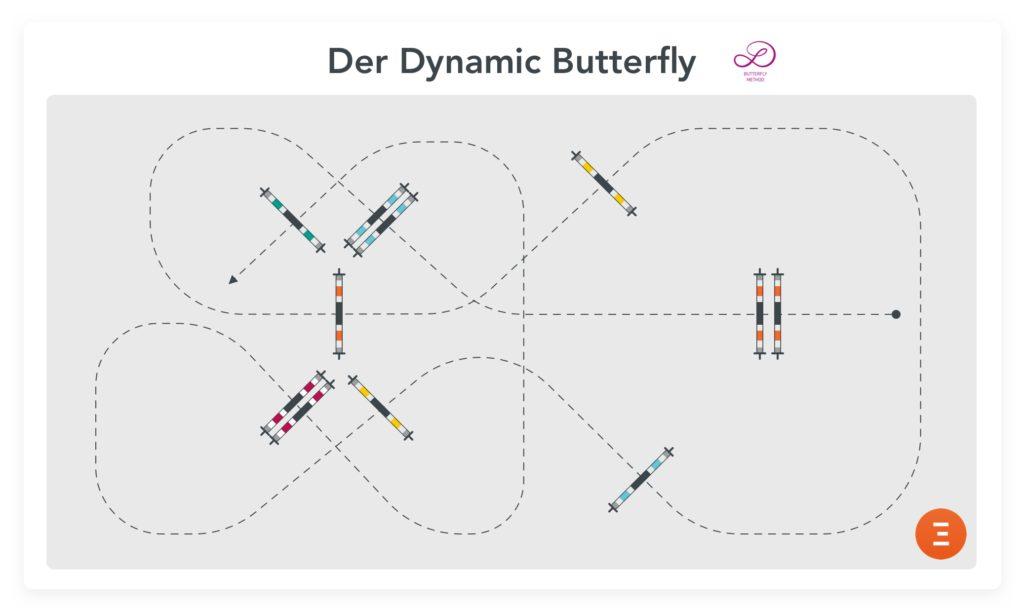 Eine Variante des Dynamic Butterfly  von Luciana Diniz