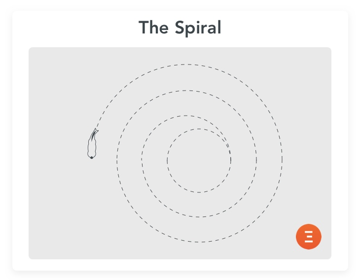 The spiral, a good exercise for older horses